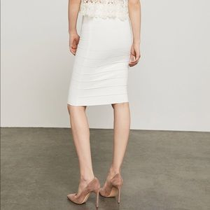 1cfdfb957d BCBGMaxAzria Skirts - White Fitted Bandage Bodycon Slimming Pencil Skirt